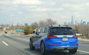 Test d'une voiture autonome par Delphi entre San Francisco et  New York fin mars, début avril 2015